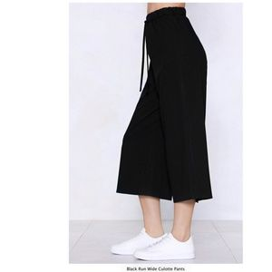 Nasty Gal Pants & Jumpsuits - wide leg pants with draw string